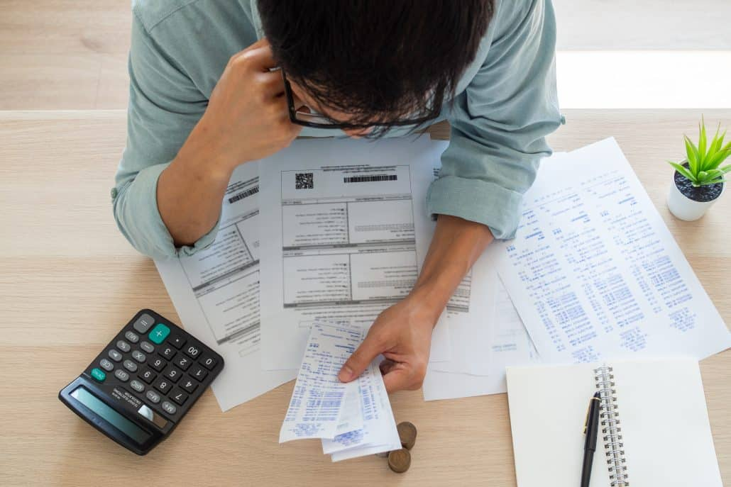 A man with financial concern