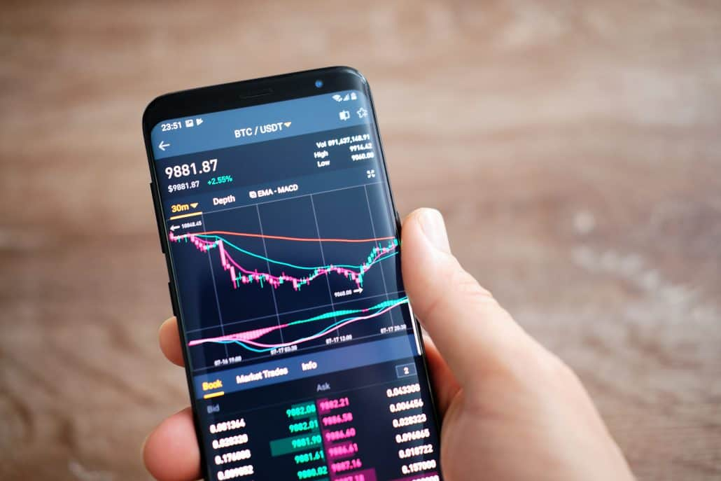 Binance mobile app running on smartphone